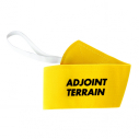 "Armand ""ADJOINT TERRAIN"" with elastic and velcro - fluo yellow"
