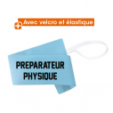 "Armand ""PREPARATEUR PHYSIQUE"" with elastic and velcro - sky blue"