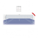 Badminton net - PE 0,5 mm - 6 ply
