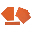 Baseball base - Orange - 5 pcs