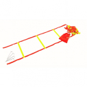 Strap agility ladder 4 m - Orange/Yellow - with bag and 4 spikes