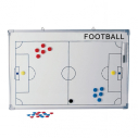 Football coach board set - White - 90 x 60 cm - Front+Back printing