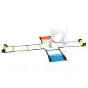 Set of 4 agility ladders for cross positioning Fluorescent colors