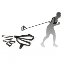 Resistance trainer - with harness and strap