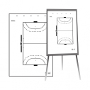 Set of 25 handball coach sheets for paper board