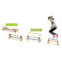 3 heights adjustable hurdle