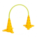 Football passing training arch fot synthetic ground - Yellow