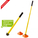 Cone collector stick - yellow with black grip