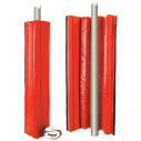 Rugby goal post pads - 22kg/m3 - Red color