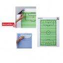 Magnetic white board - 80*60 cm - with football printing