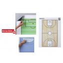 Magnetic white board - 80*60 cm - with basketball printing