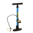 Vertical hand pump with pressure gauge