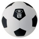 Rubber football - size 5 - black/white