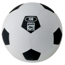 Rubber football - size 4 - blue/white