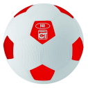 Rubber football - size 3 - red/white