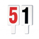Foul marker set - number 1 to 4 in black - no 5 in red color