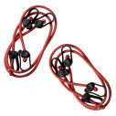 Set of 4 elastic tensioners for goal nets