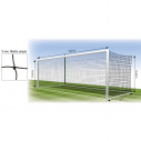 European football net 11 p. twisted PE dia. 3 mm mesh 145 mm - black
