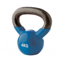 Vinyl kettlebell - 4 kg - Blue - with TREMBLAY logo
