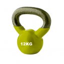 Vinyl kettlebell - 12 kg - Yellow - with TREMBLAY logo