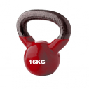 Vinyl kettlebell - 16 kg - Red - with TREMBLAY logo