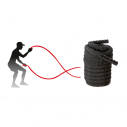 "Battle rope with nylon cover - 1,5"" x 40' - Black"