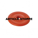 Red rubber plate 2 kg - for bar with dia. 28 mm - with CT logo