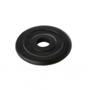 Black rubber plate 20 kg - for bar with dia. 28 mm - with CT logo