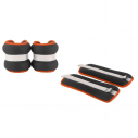 Wrist band -1,5 kg x 2 - Black with orange piping