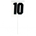 Field event marker - Rectangular shape - Set of 12