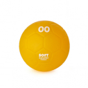 Ultrasoft smooth skin PVC handball - dia. 13,5 cm - 200 gr - yellow