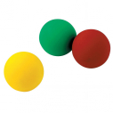 Set of 3 vinyl juggling balls - 68 mm - 65 gr