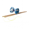 Multi-color diabolo - with pair of wooden sticks