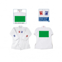 Judo jacket only - white with 3 ribbons