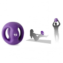 PVC sand ball with 2 handles - 10kg - purple