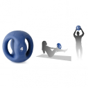PVC sand ball with 2 handles - 4kg - blue