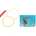 Swimming pool weighted hoop - set of 3 - yellow