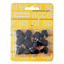 Nylon soccer studs - 8 x 13 mm + 4 x 16 mm - Black