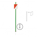 Orienteering pole with steel spike