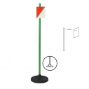 Orienteering pole with base