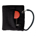 Wrist band with zip and cord for whistle - Black - with head card