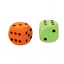 Foam dice - Assorted colors