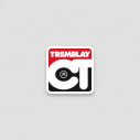"Traffic sign only + clip - red triangle - ""Passage pieton"""