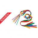 Gymnastic ribbon - 1,60 m - set of 6 different colors