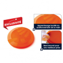 Flying disk with Fingers design - dia. 23 cm - 125 gr - Orange