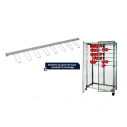 Set of 2 spare racks with glove hangers - 1200 x 200 x 25 mm