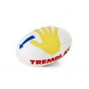Classic trainer rugby ball - size 3 - with hands design