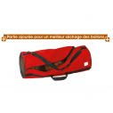 Bag for 3 balls - 600 D - Diam 28,5 x L 74 cm - Red
