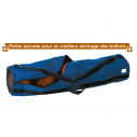 Bag for 5 balls in 600 D - Diam 28,5 x L 115 cm - Blue