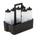 Bottle carrier for 8 bottles - black with Meditech logo